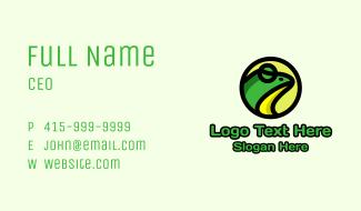 Cartoon Frog Emblem Business Card