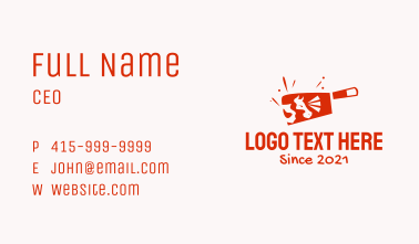 Cow Meat Cleaver Business Card