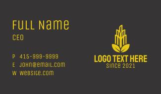 Golden Leaf Tower Business Card