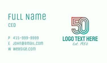 Gradient Retro 50s Business Card
