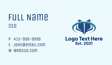 Book Online Learning Business Card