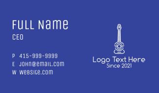 Minimalist Guitar Business Card