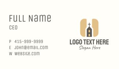 Religious Church App Business Card
