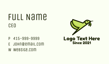 Nature Bird Sanctuary Business Card