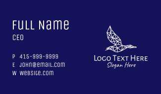 Geometric Seagull Business Card