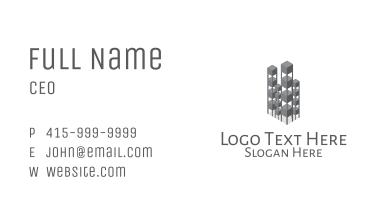 Gray Isometric Realtor  Business Card