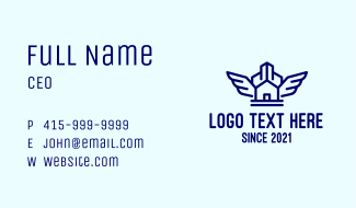 Blue Wing House Business Card