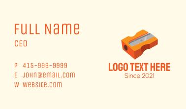 Orange Pencil Sharpener  Business Card