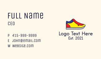 Mondrian Shoe Footwear Business Card