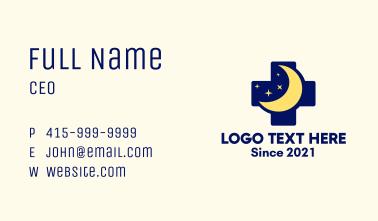 Starry Moon Cross Business Card