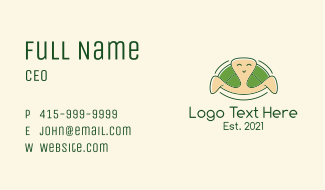 Happy Turtle Mascot Business Card
