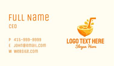 Orange Fruit Juice Business Card