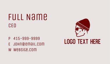 Hipster Guy Profile Business Card