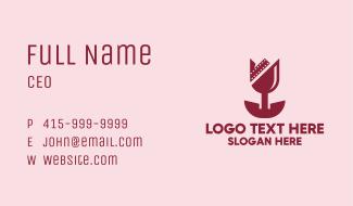 Romantic Tulip Film Business Card