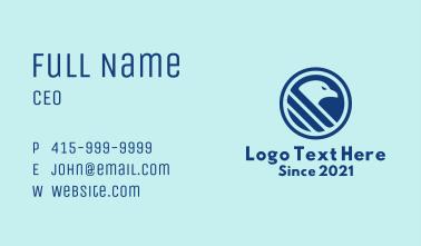 Blue Hawk Emblem Business Card