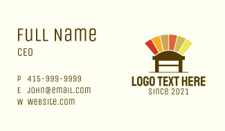 Colorful Chair Design Business Card