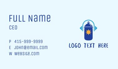 Spray Paint Headphone Business Card