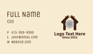 Cabin Woodcutter Business Card