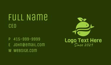 Green Organic Fish Business Card