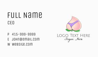 Sexy Peach Lingerie Business Card
