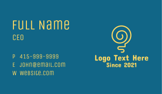 Yellow Lightbulb Idea Business Card