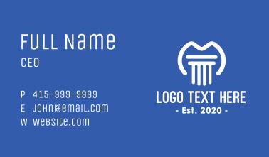White Pillar Letter M Business Card