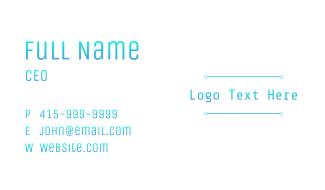 Cool Tech Wordmark Business Card