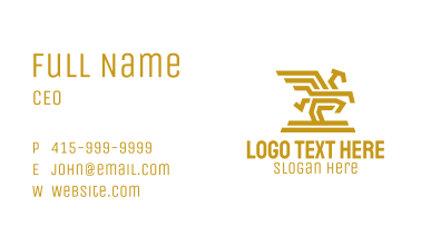 Golden Mythical Pegasus Business Card