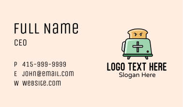 Bread Oven Toaster  Business Card