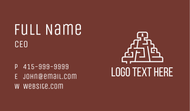 Aztec Temple Maze Business Card