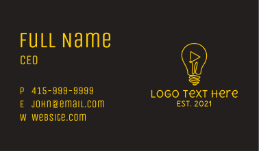 Online Class Idea Business Card