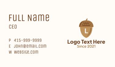 Brown Acorn Nut Letter Business Card