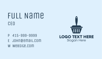 Cleaning Dustpan  Business Card