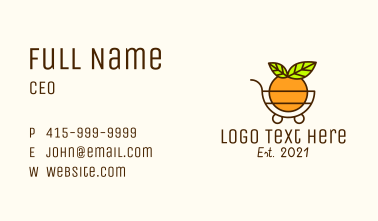 Fruit Grocery Cart  Business Card
