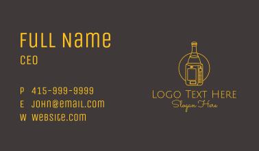 Beverage Machine Line Art  Business Card