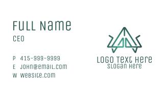 Green Tech Letter A Business Card