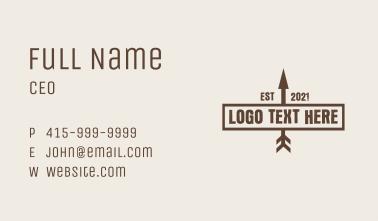 Brown Arrow Wordmark  Business Card