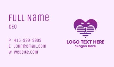 Purple Cobra Heart  Business Card