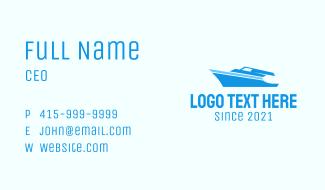 Blue Sailing Yacht Business Card