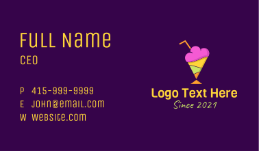 Colorful Sherbet Business Card