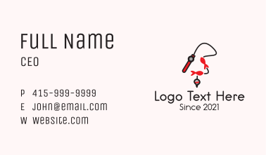 Fishing Pole Lure Business Card