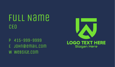 Mountain Tech Letter U Business Card
