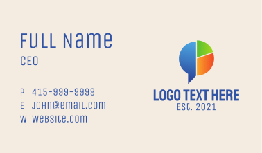 Pie Chart Chat  Business Card