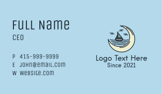 Sailing Yacht Moon Business Card