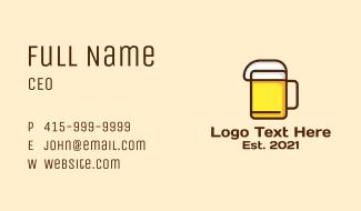 Minimalist Beer Icon Business Card