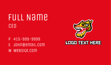 Chinese Dragon Head Business Card