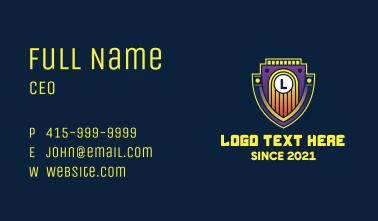 Retro Emblem Letter Business Card