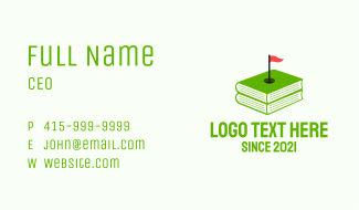 Golf Training Book Business Card