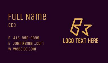 Premium Star Letter B Business Card