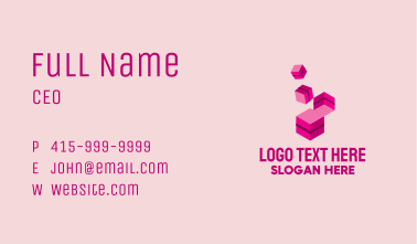 Isometric Building Block Business Card